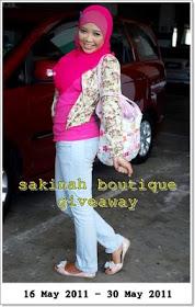 Sakinah Boutique 1st Giveaway
