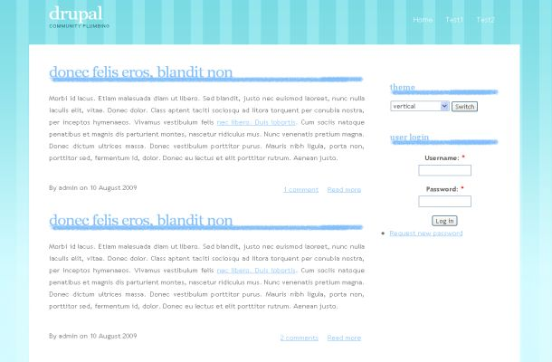 Free Blue White Grunge Business Drupal Theme