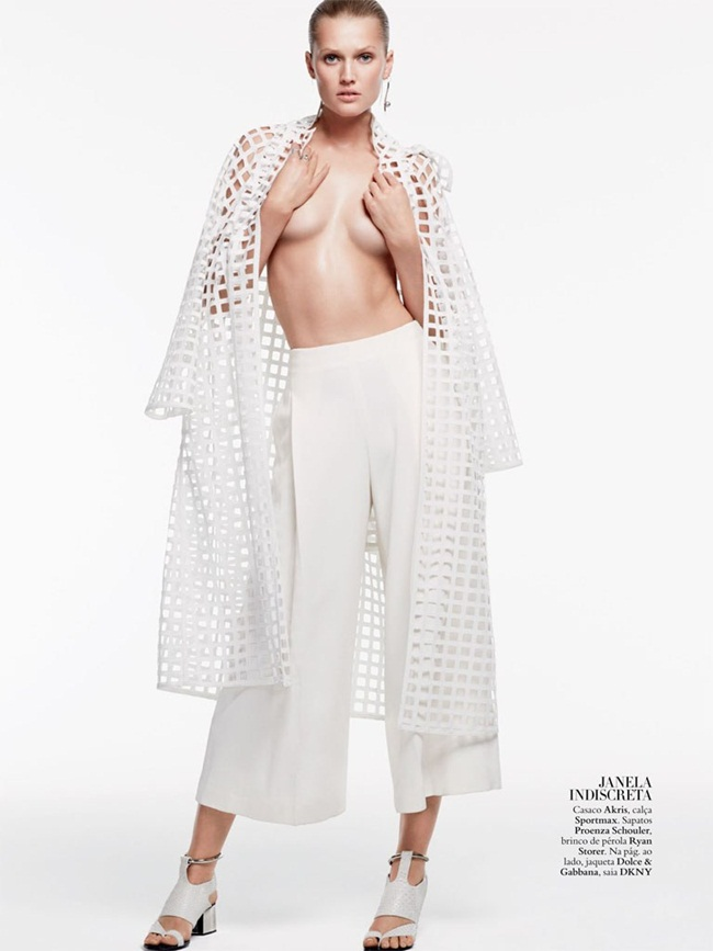 Akris SS 2015 White Squares Cutouts Trench Coat Editorials