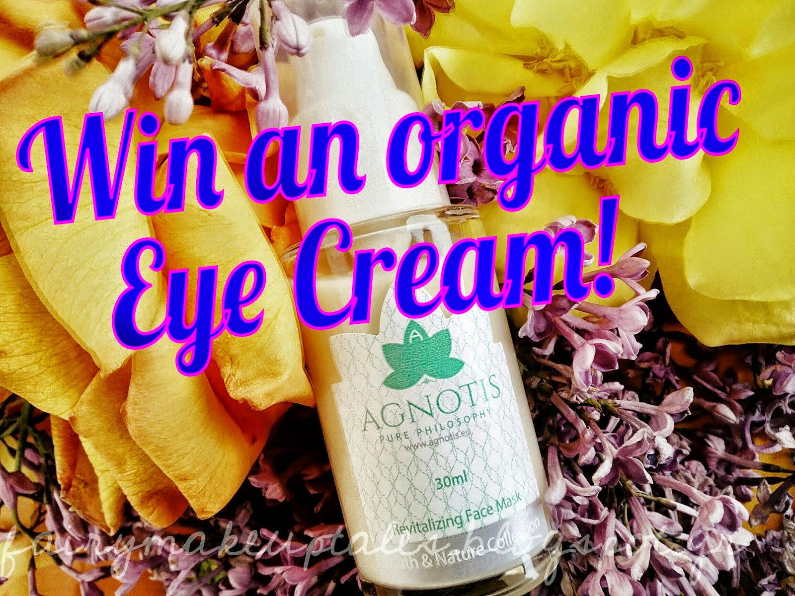 Win an Organic Eye Cream from Pure Philisophy AGNOTIS!
