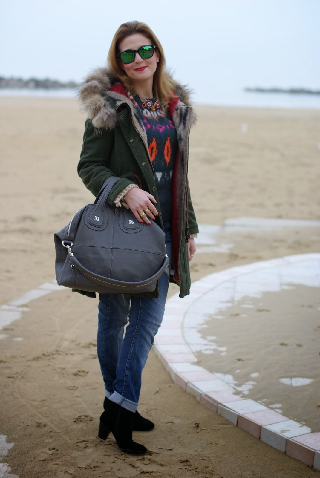 Gamp parka, Givenchy Nightingale bag, Fashion and Cookies, fashion blogger