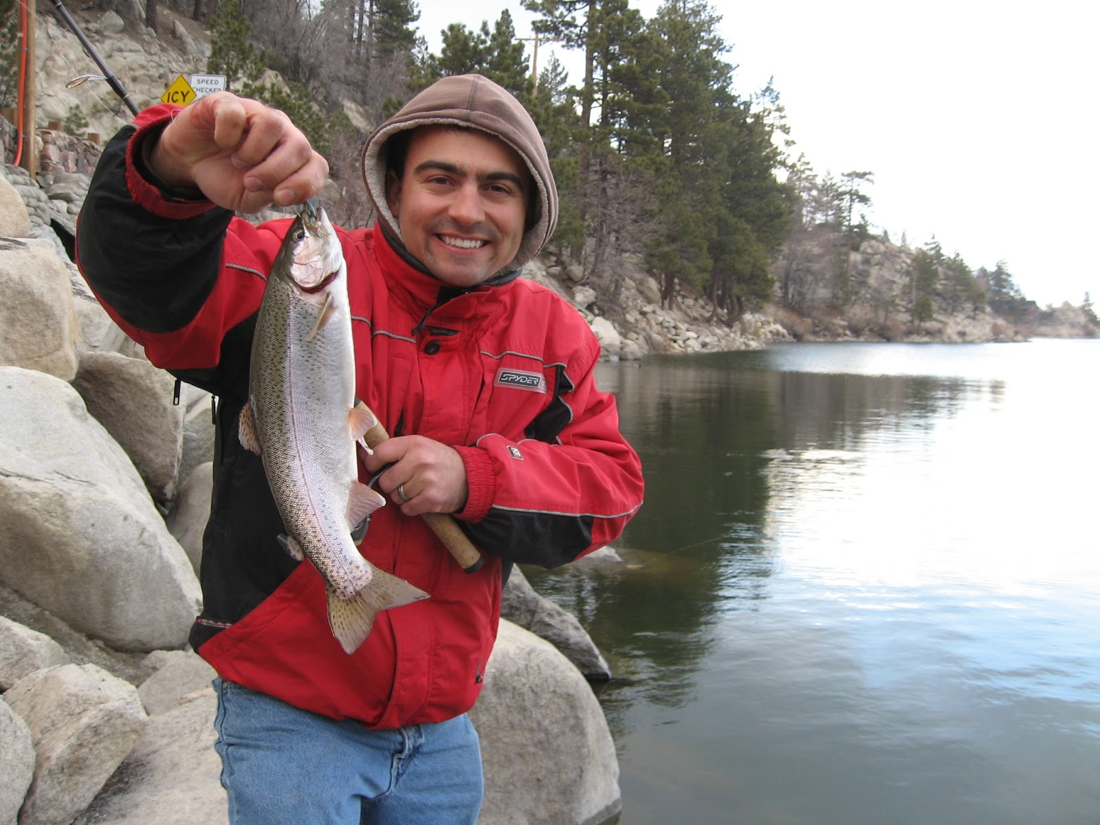 Big bear lake mini jigs for rainbow trout april for Big fish lake