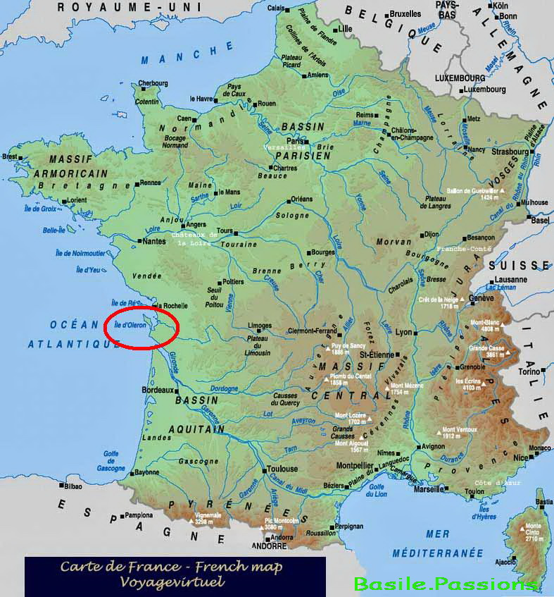 carte de france ile d'oleron