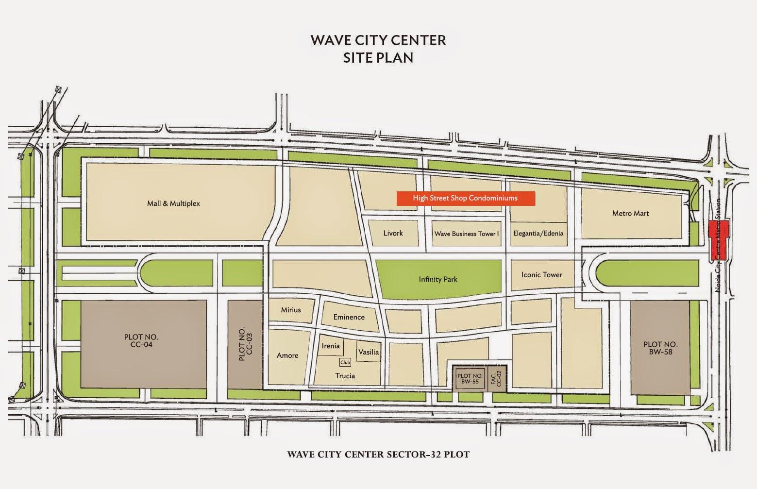 Site Plan of High Street Shop Condominiums