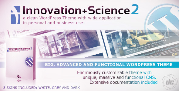 ThemeForest - Innovation+Science 2 - Advanced WordPress Theme v2.3