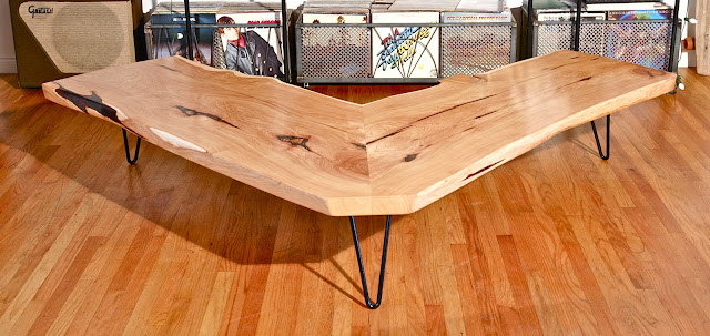 alligator juniper l coffee table ~ woodworking area