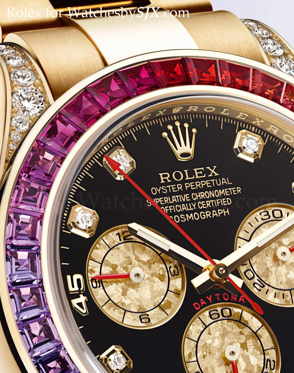 watches by sjx rolex bling at baselworld 2012 including the rainbow daytona with pricing. Black Bedroom Furniture Sets. Home Design Ideas