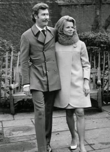 Jill Bennett at their wedding in 1968