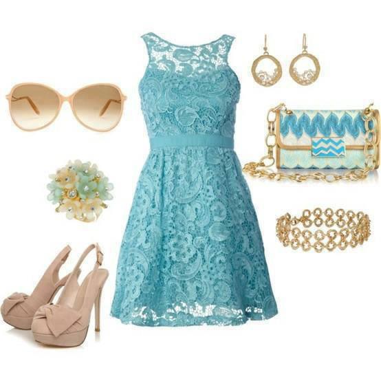 Trajes De Baño Azul Turquesa:La moda que me gusta: vestido turquesa y complemento