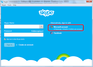 Skype login options
