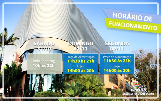 52f11b663d3 Horários de Funcionamento do Shopping Jardim das Américas no Feriado ...