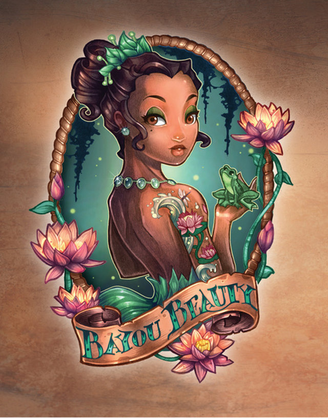 Princesas disney estilo tatuagens assuntos criativos for Princesas disney tattoo