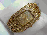 Jam Tangan GUESS 3 RTE Gold Full Diamond