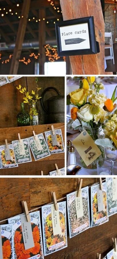 rustic seed wedding favors