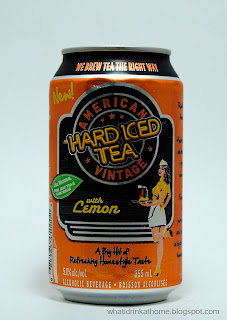 What I Drink At Home: American Vintage Hard Iced Tea with lemon Review