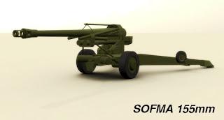 Argentine Army Sofía cannon , 155mm L33 Model 1977