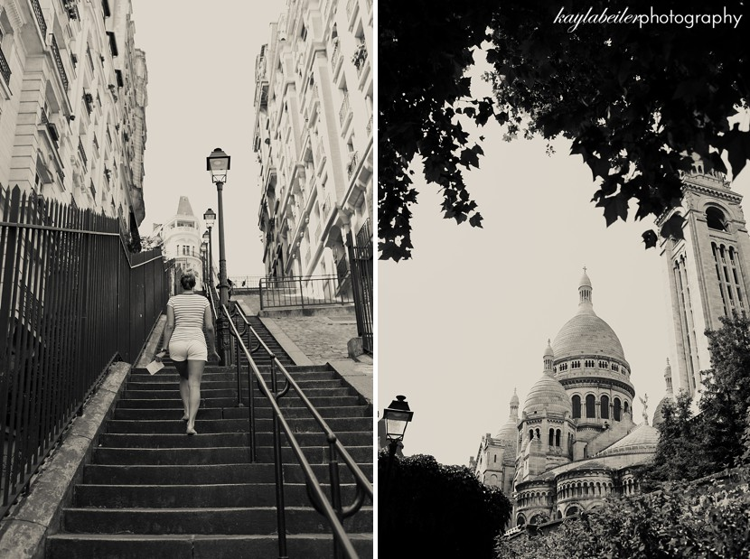 stairs to sacre coeur photo