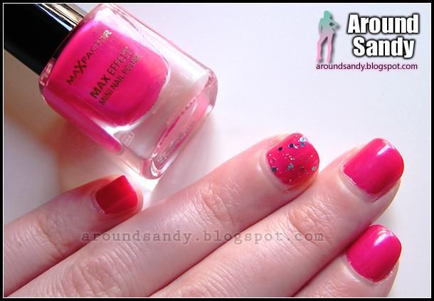 Max Factor 23 Hot Pink Mini Nail Polish review swatches