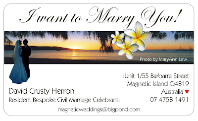 Business Card Magnetic Island & Townsville Celebrant
