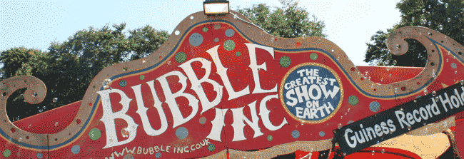 Bubble inc Camp bestival
