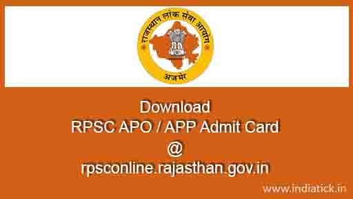RPSC APO Admit card 2015 Rajasthan PSC APP Hall ticket Assistant Prosecution Officer download pdf  online find forgot application id rpsc.rajasthan.gov.in