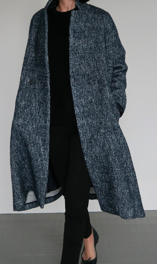 Oversized Heathered Coat