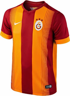 gambar baju bola jersey galatasaray home terbaru musim 2014/2015