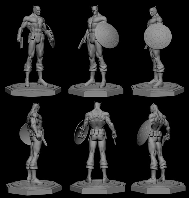 Captain America Bucky model por alterton