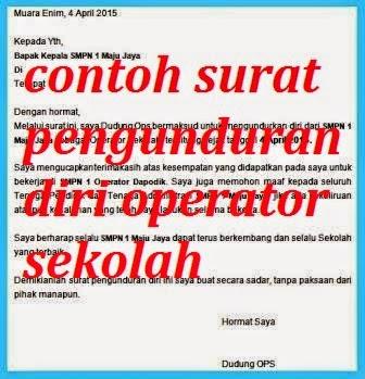 Contoh Surat Pengunduran Diri Operator