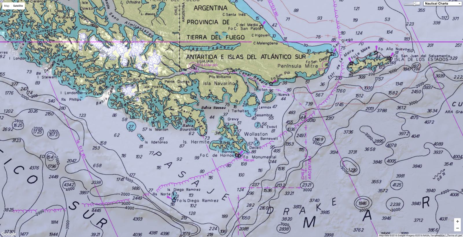 GeoGarage Blog - Argentina cape horn map