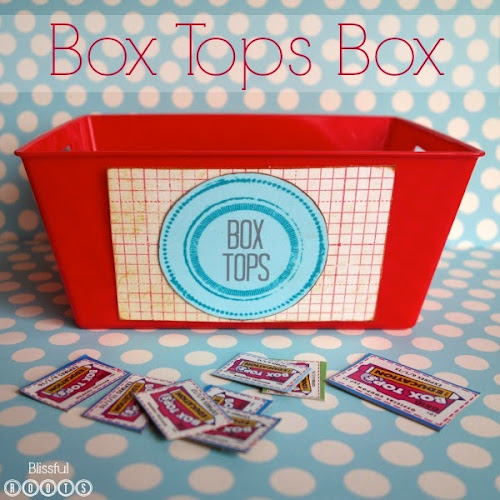 Box Tops Box from Blissful Roots