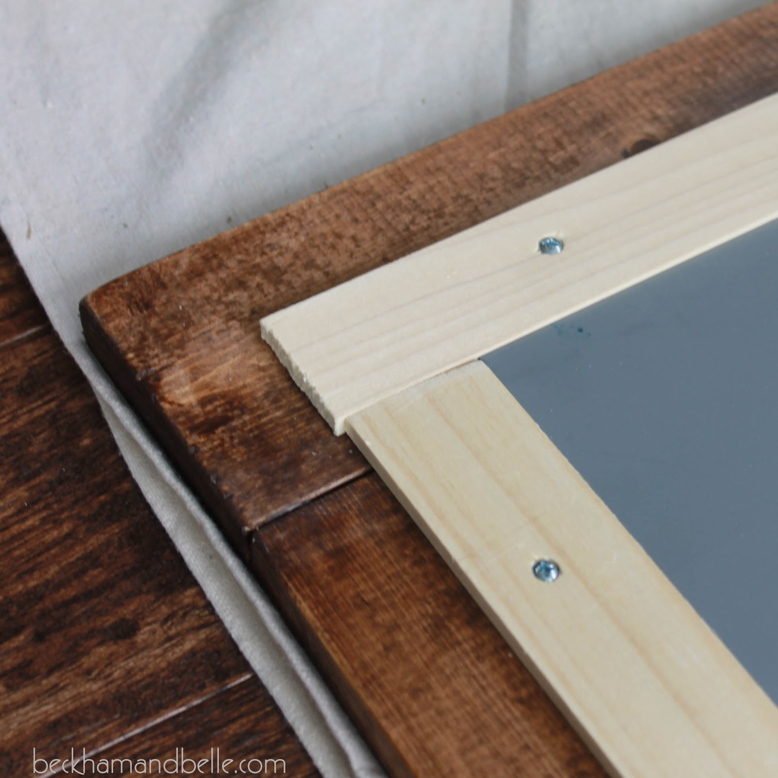 Repurposed/Upcycled Garage Sale Wall Mirror - Beckham + Belle