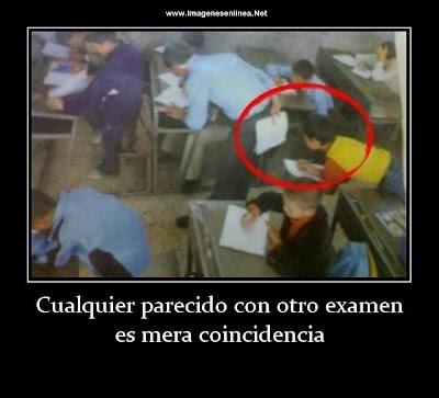 Cualquier parecido con otro examen es mera coincidencia