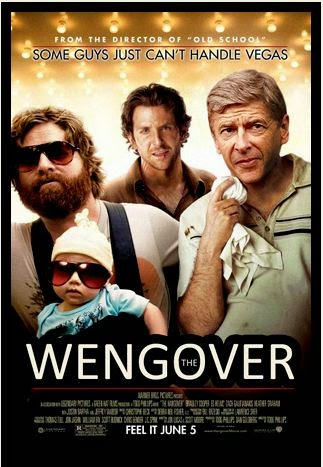 The Wengover, Arsene Wenger, Arsenal, trophy drought, The Hangover, funny, football, funny film poster, football movie poster