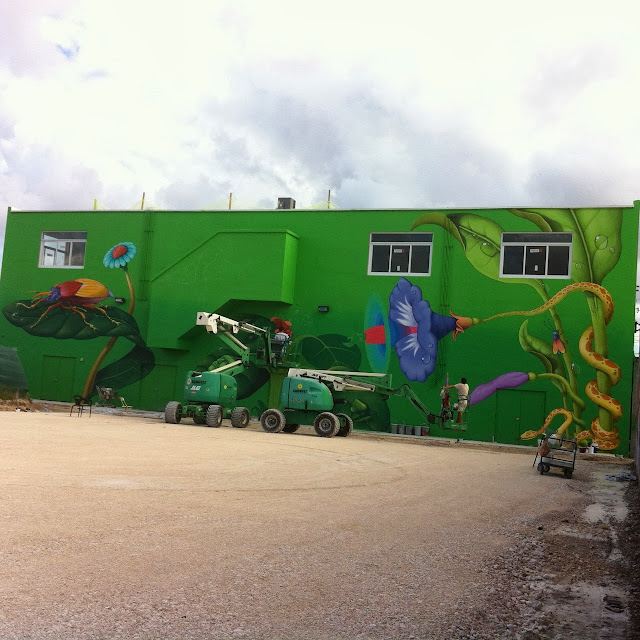 Work In Progress By Ukrainian Street Art Duo Interesni Kazki In Miami, USA. 2