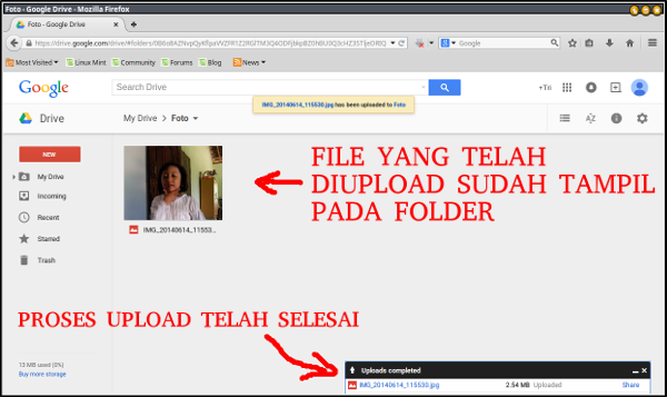 google drive-tampilan file