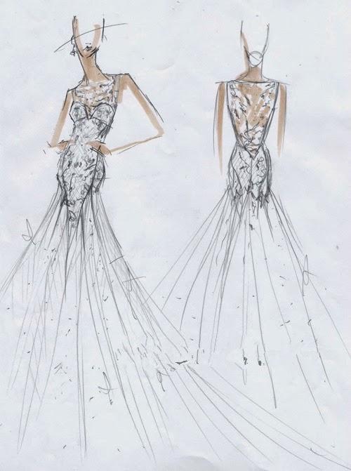 ma robe lol, mais c\u0027est seulement un rêve, je sais pas du tout le dessin  Bon laissons admirer les magnifiques maniscrits de la robe de mariée 2015 !