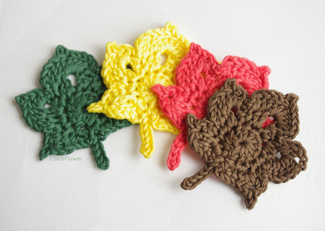 applique à coudre automne crochet cocoflower