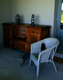 Edwardian Sideboard - sorry does not include cat!