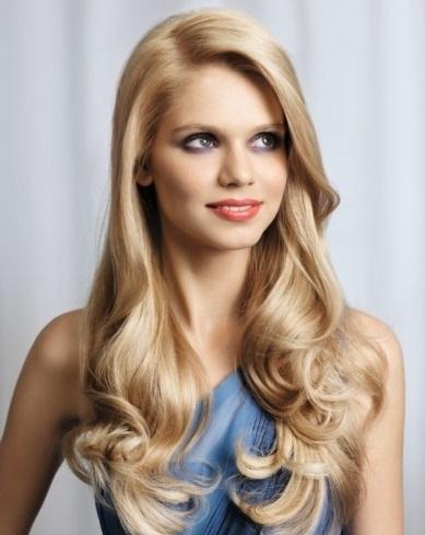 Super-Long Blonde Hair Style 2014