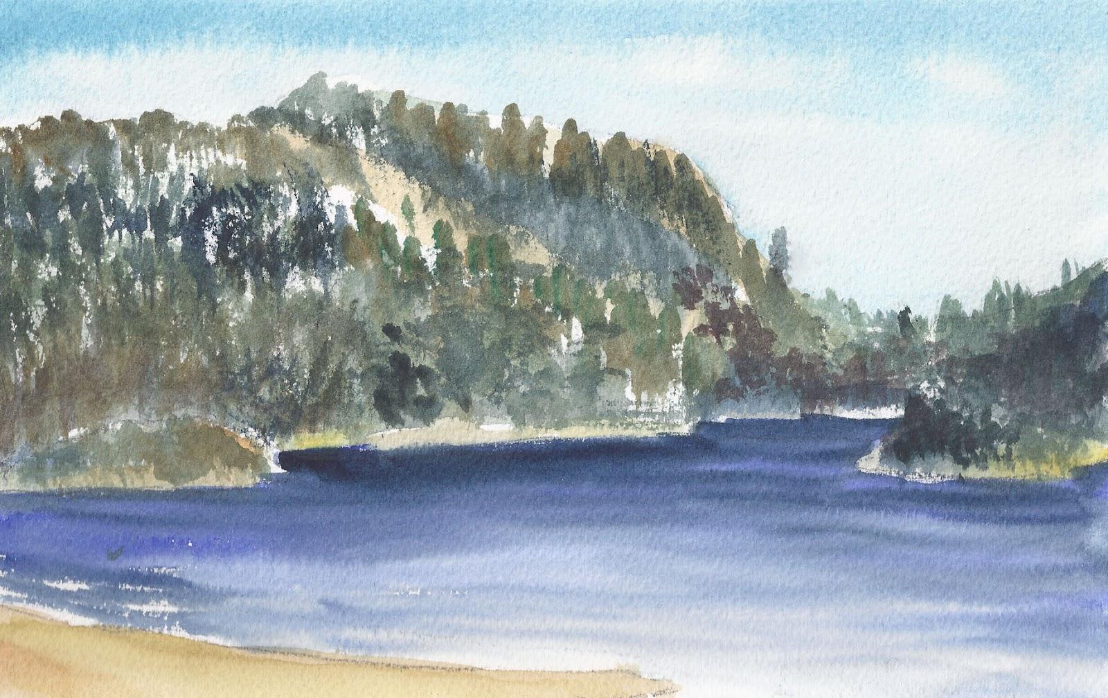 Table on sandy beach lac monroe mont tremblant quebec for Lac miroir mont tremblant