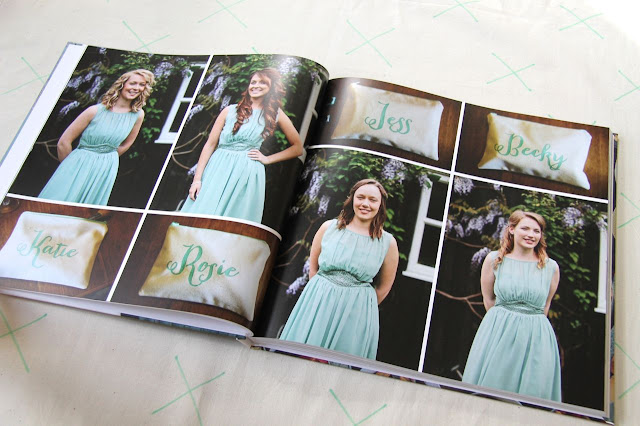 bridesmaids wedding album blurb