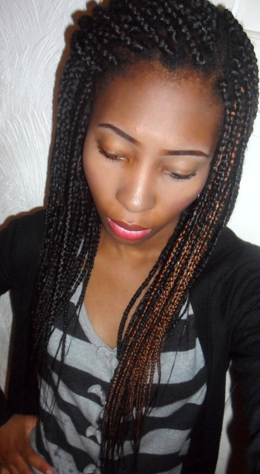 ... these are called box braids or single braids and these particular