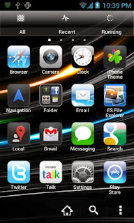 Screenshots of the iPhone 5 Go launcher Ex Android Theme for Android mobile, tablet, and Smartphone.