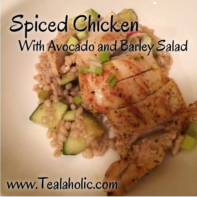 College Cooking with Class: Spiced Chicken with Barley Salad