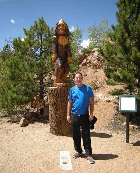Austin and a Bigfoot