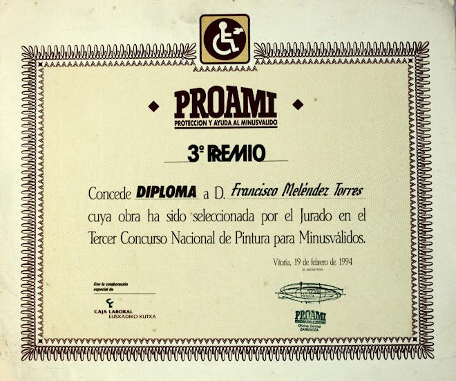 3º PREMIO. III-CONCURSO NACIONAL DE PINTURA PARA MINUSVÁLIDOS. PROAMI. (VITORIA)-ESPAÑA.