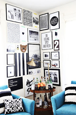 a beautiful mess corner gallery wall diy