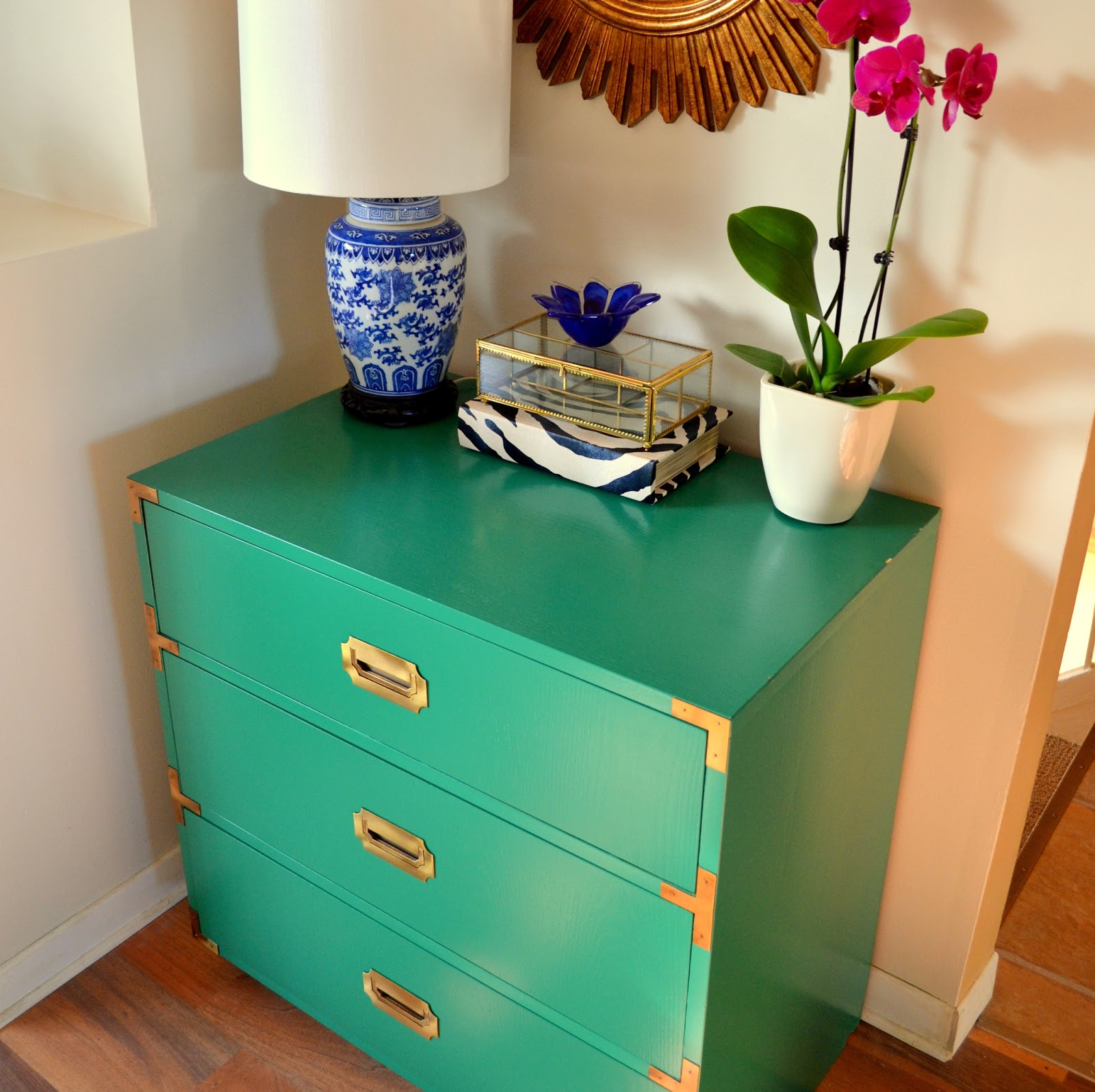 Green Campaign Dresser Makeover!