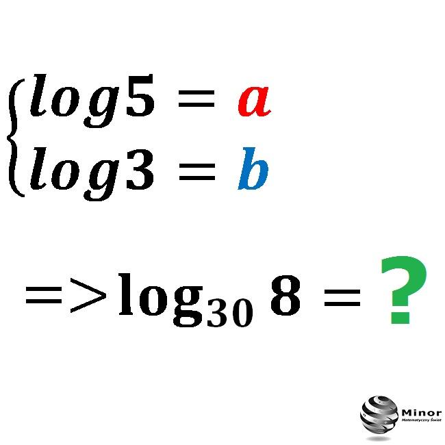 Wiedząc, że log5=a i log3=b. Wyznacz wartość logarytmu jako wyrażenie.
